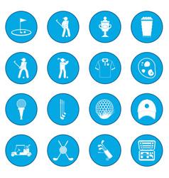 golf icon blue vector image