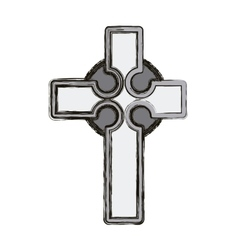 Isolated religion cross design vector