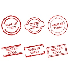 Made in Italy stamps vector image vector image