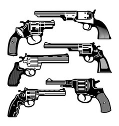 monochrome of retro weapons vector image