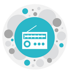 of mp3 symbol on radio icon vector image