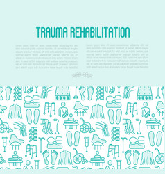 orthopedic and trauma rehabilitation concept vector image vector image