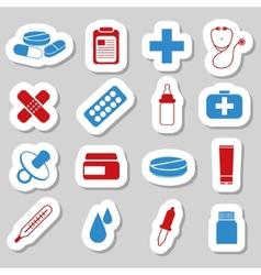 Pharmacy stickers vector
