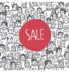 sales crowd concept vector image vector image