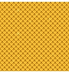 Seamless gold upholstery background pattern vector image vector image