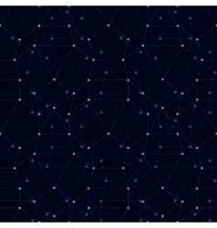 Seamless polygonal pattern abstract dark vector