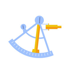 sextant tool isolated icon vector image vector image