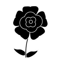 Silhouette flower flourish natural vector