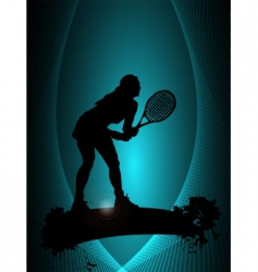 tennis player poster vector image