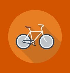Travel Flat Icon Bicycle vector image vector image