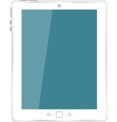 white tablet computer vector image
