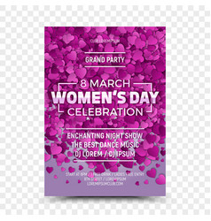 womens day flyer design template vector image vector image