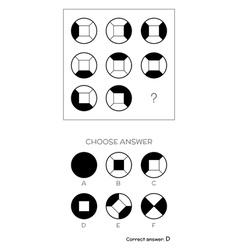 Iq test choose answer vector