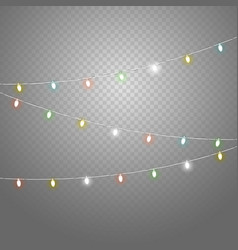 Different color lighting garland set isolated on vector
