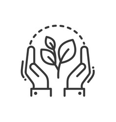 Plant of life- modern single line icon vector