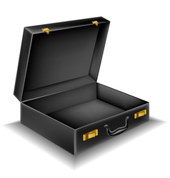 Open briefcase vector