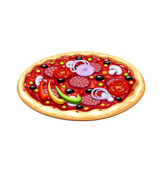 Pizza italian traditional vector