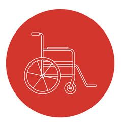 Line art style wheelchair icon vector