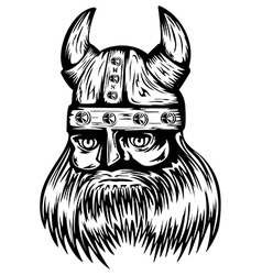Viking in helmet vector