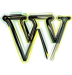 font letter w vector image