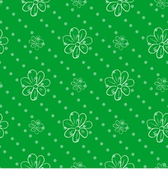 Seamless wallpaper green polka dot background with vector