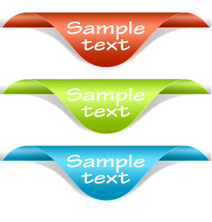 label corners vector image