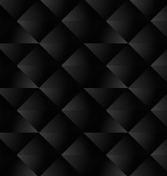 Black Geometric Seamless Pattern vector image