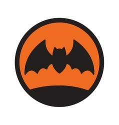 Flat with shadow icon and mobile application bat vector