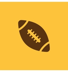 The football icon rugby symbol flat vector