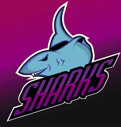 Modern professional sharks logo for a club vector