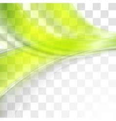 Bright green soft abstract transparent waves vector