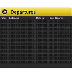 Airport timetable empty vector