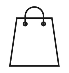 Shopping bag isolated icon design vector