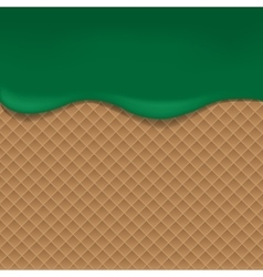 Wafer background with green jam vector