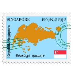 mail to-from Singapore vector image