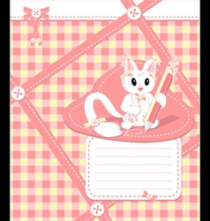 Copybook with cat vector