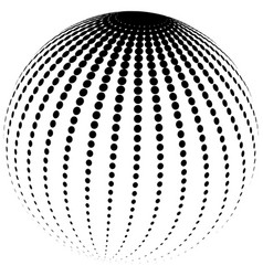abstract halftone globe vector image vector image