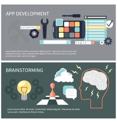App development and brainstorming vector