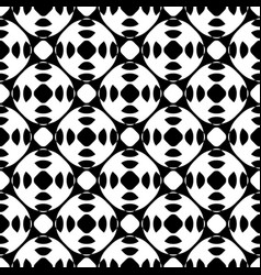 black white seamless pattern geometric texture vector image vector image