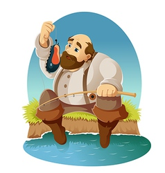 Cartoon fisher vector image vector image