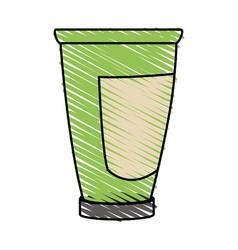 color crayon stripe cartoon tube cream container vector image