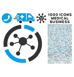 Connections Diagram Icon with 1000 Medical vector image vector image