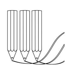 Contour pencil color icon stock vector