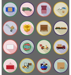 Delivery flat icons 19 vector