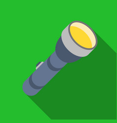 Flashlight icon in flat style isolated on white vector