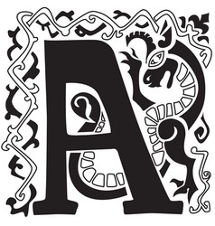 Gargoyle capital letter a vector