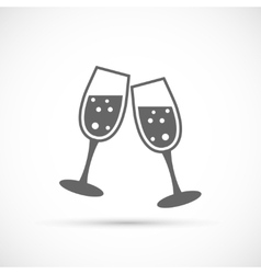 Glasses champagne icon vector
