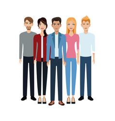 Group people unity team vector