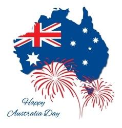 Happy Australia Day design Map of vector image