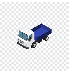 isolated truck isometric lorry element ca vector image vector image